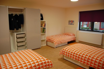 Typical 3 bed boarding room at Brookes UK