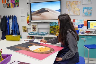 GCSE art student at Brookes UK